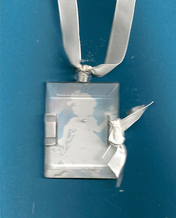 Beveled windowpane necklace