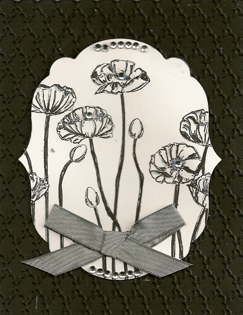 Pleasant Poppies B&W (494x640)